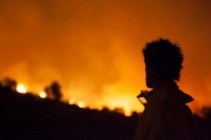 Fotogràfia del recent incendi a l'Empordà.