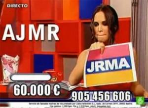 Instantànea del polèmic Call TV de Marisa Sandoval.
