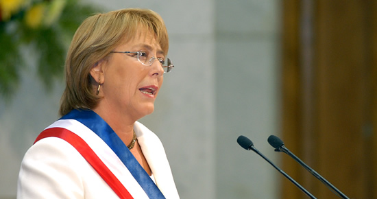 Michelle Bachelet, directora general d'ONU Dones i expresidenta de la república de Chile.