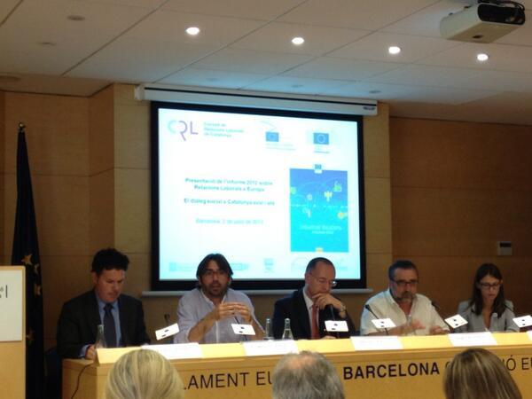 Es presenta l'Informe 2012 sobre Relacions Laborals a Europa