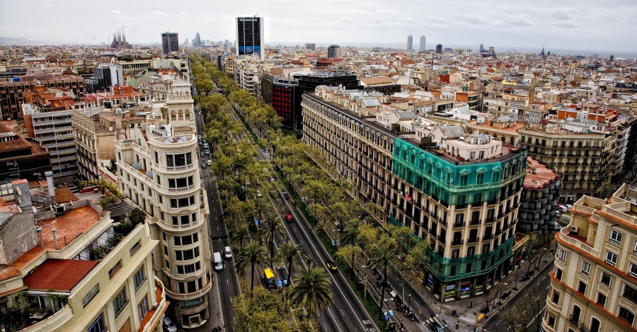 Vista de la Diagonal de Barcelona. Fuente: El Pais.
