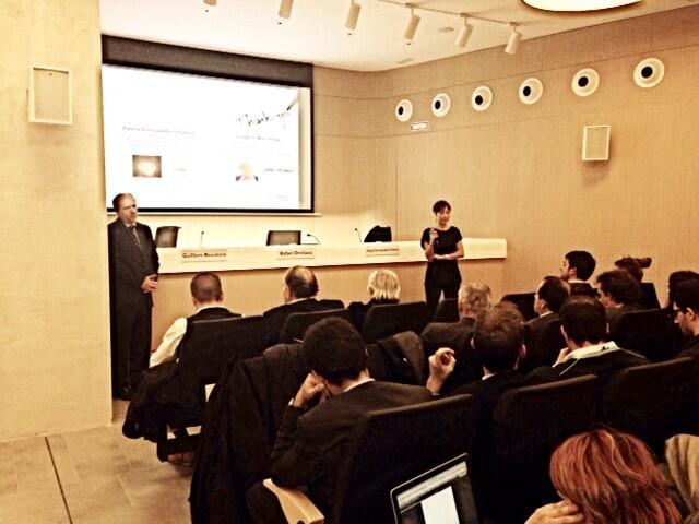 Fotografia de la conferència. Font: ACPJF (@InfoPerits)