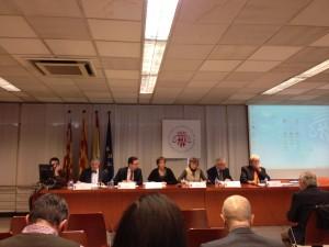 """Imatge de la segona taula de la jornada """"El dret a l'autodeterminació: anàlisi jurídic"""""""