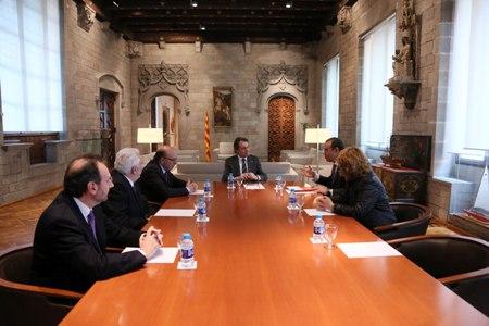 Reunio del Consell i del president de la Generalitat