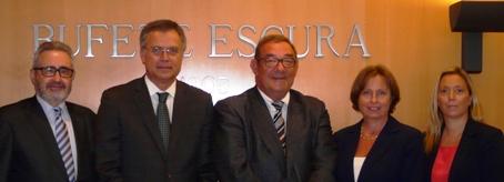 D'esquerra a dreta: Ferran Josa (Frouchtman, Sant i Josa), Ferran Escura (Bufet Escura), Albert Sant (Frouchtman, Sant i Josa), Sonia Frouchtman (Frouchtman, Sant i Josa), Laura Cester (Bufet Escura).