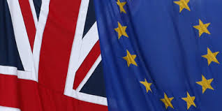 Banderes Regne Unit i Europa.
