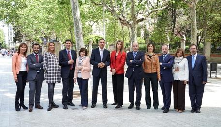 Fotografía de la nova junta proclamada.