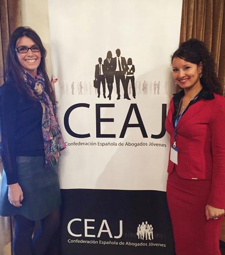 Cristina Llop, presidenta de CEAJ, i Elisabeth Batista, presidenta de l'EYBA.