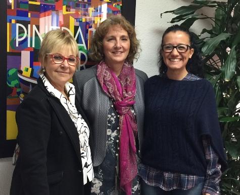 D'esquerra a dreta: Carme Aragonès, Mercè Claramunt i Pilar Fernández