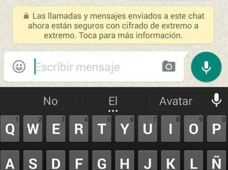 WhatsApp cifrado
