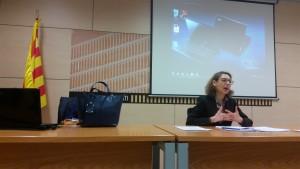 La Magistrada Berta Pellicer Ortiz durant la seva ponència | El Jurista
