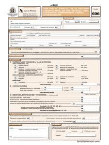 Imatge del model d'autoliquidació de la taxa