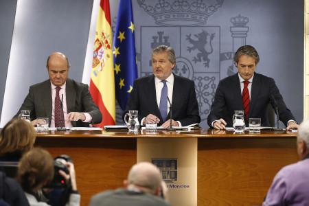 Roda de premsa posterior al Consell de Ministres del passat divendres. Font: Moncloa.