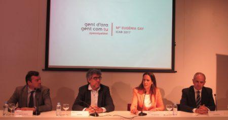 Josep Mª Balcells, Jordi Pina, Mª Eugènia Gay i Jesús M. Sánchez.